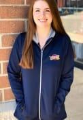 Cleveland Cavaliers Womens Antigua Leader Medium Weight Jacket - Navy Blue