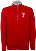 Antigua Texas Rangers Red Leader 1/4 Zip Pullover
