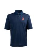 Illinois Fighting Illini Antigua Pique Xtra-Lite Polo Shirt - Navy Blue