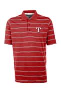 Antigua Texas Rangers Red Deluxe Short Sleeve Polo Shirt