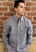 Antigua Dallas Mavericks Navy Blue Associate Dress Shirt