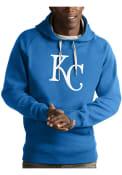 Kansas City Royals Antigua Victory Hooded Sweatshirt - Light Blue