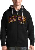 Baltimore Ravens Antigua Victory Full Zip Jacket - Black