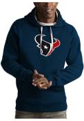 Houston Texans Antigua Victory Hooded Sweatshirt - Navy Blue
