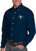 BYU Cougars Antigua Dynasty Dress Shirt - Navy Blue