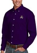 East Carolina Pirates Antigua Dynasty Dress Shirt - Purple