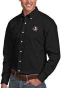 Florida State Seminoles Antigua Dynasty Dress Shirt - Black