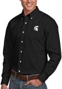 Michigan State Spartans Antigua Dynasty Dress Shirt - Black
