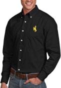 Wyoming Cowboys Antigua Dynasty Dress Shirt - Black