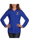 Creighton Bluejays Womens Antigua Dynasty Dress Shirt - Blue