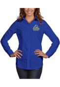 Delaware Fightin' Blue Hens Womens Antigua Dynasty Dress Shirt - Blue