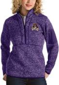 East Carolina Pirates Womens Antigua Fortune 1/4 Zip Pullover - Purple