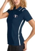 BYU Cougars Womens Antigua Merit Polo Shirt - Navy Blue