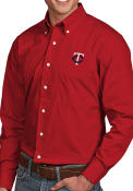Minnesota Twins Antigua Dynasty Dress Shirt - Red