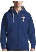 Texas Rangers Antigua Victory Full Zip Jacket - Blue