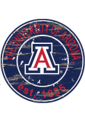 Arizona Wildcats Established Date Circle 24 Inch Sign