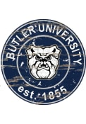 Butler Bulldogs Established Date Circle 24 Inch Sign