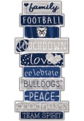 Butler Bulldogs Celebrations Stack 24 Inch Sign