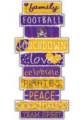 East Carolina Pirates Celebrations Stack 24 Inch Sign