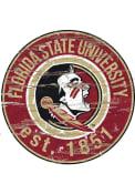 Florida State Seminoles Established Date Circle 24 Inch Sign