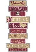 Florida State Seminoles Celebrations Stack 24 Inch Sign
