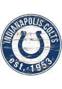 Indianapolis Colts Established Date Circle 24 Inch Sign