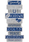 Indianapolis Colts Celebrations Stack 24 Inch Sign