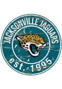 Jacksonville Jaguars Established Date Circle 24 Inch Sign