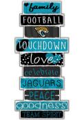 Jacksonville Jaguars Celebrations Stack 24 Inch Sign