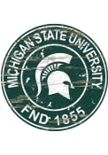 Michigan State Spartans Established Date Circle 24 Inch Sign