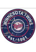 Minnesota Twins Established Date Circle 24 Inch Sign