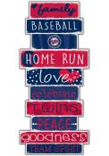 Minnesota Twins Celebrations Stack 24 Inch Sign