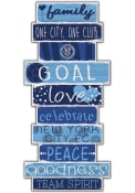 New York City FC Celebrations Stack 24 Inch Sign