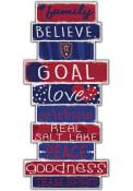 Real Salt Lake Celebrations Stack 24 Inch Sign