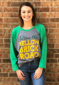 Wizard of Oz Grey Follow The Yellow Brick Road Raglan 3/4 Sleeve T Shirt
