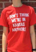 Wizard of Oz Womens Red Not In Kansas Short Sleeve T Shirt