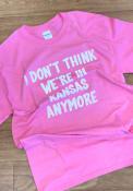Wizard of Oz Womens Pink Not In Kansas Short Sleeve T Shirt