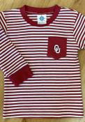 Oklahoma Sooners Toddler Striped Pocket T-Shirt - Crimson