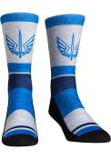 St Louis Battlehawks XFL 2020 Heather Stripe Crew Socks - Blue