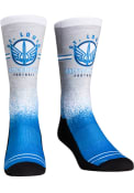 St Louis Battlehawks XFL 2020 Splatter Crew Socks - Blue