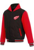 Detroit Red Wings Reversible Hooded Heavyweight Jacket - Black