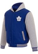 Toronto Maple Leafs Reversible Hooded Heavyweight Jacket - Blue
