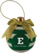 Eastern Michigan Eagles Ceramic Bulb Ornament