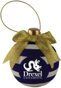 Drexel Dragons Ceramic Bulb Ornament Ornament