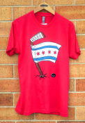 Chitown Clothing Chicago Red Chicago Flag Short Sleeve T Shirt