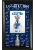 St Louis Blues 2019 Stanley Cup Banner Raising Signature Plaque