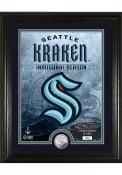 Seattle Kraken Inaugural Season Silver Coin Mint Plaque