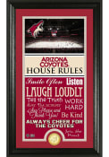 Arizona Coyotes 12x20 House Rules Plaque