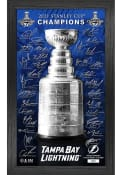 Tampa Bay Lightning 2021 Stanley Cup Champions Signature Trophy Picture Frame