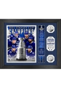 Tampa Bay Lightning 2021 Stanley Cup Champions Banner Silver Coin Photo Mint Plaque